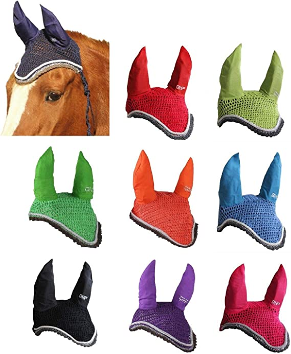 Full Versch Fliegenohren Pony o Farben netproshop Sch/öne Zweifarbige Fliegenhaube