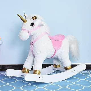 Antik shop Unicorn , Small Rocking Horse Unicorn Riding Toy Wooden Rocker for Toddlers White