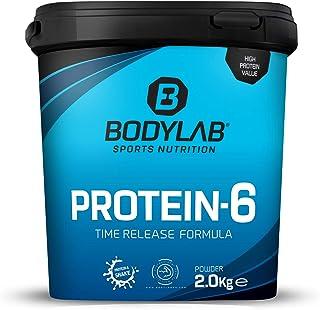 Protein-6 de Bodylab24 2 kg | Polvo de proteína multicomponente con 6 fuentes de proteína de alta calidad | Apto para muscular o como batido de dieta | Batido de proteína sin gluten | Plátano