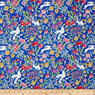 Michael Miller 0430373 Sommer Garden Quilt Fabric By The Yard, Blueberry