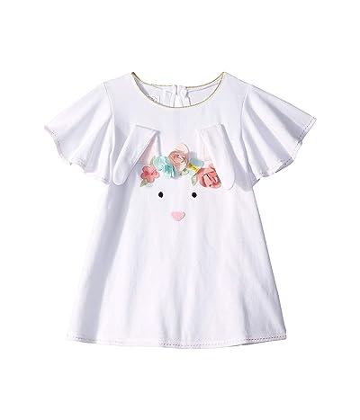 Mud Pie Bunny Tunic (Infant/Toddler) (White) Girl