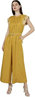 Iconic Women's 2091067 SS23RUFSLVJM Woven Cocktail Jumpsuit, Yellow