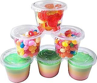 TashiBox 5.5 oz - 100 Sets Plastic Portion Cups with Lids