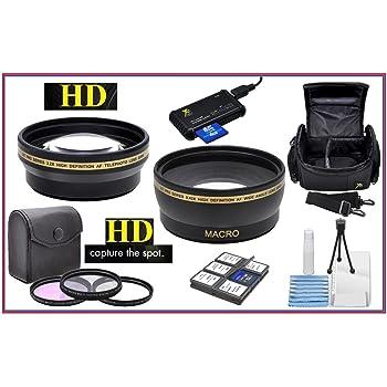 Panasonic Lumix DMC-FZ200 DMC-FZ300 High Grade Multi-Coated Multi-Threaded 3 Piece Lens Filter Kit