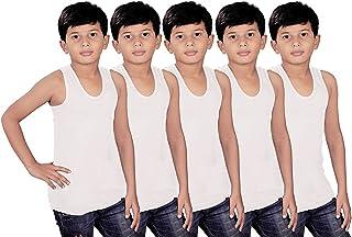 Kids Basket Gypsy Boys 100% Pure Cotton Kids White Vest Inner wear Brief (Pack of 5) - Regular Use