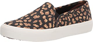 Keds womens Double Decker Animal Pack Sneaker, Tan/Black, 6 US
