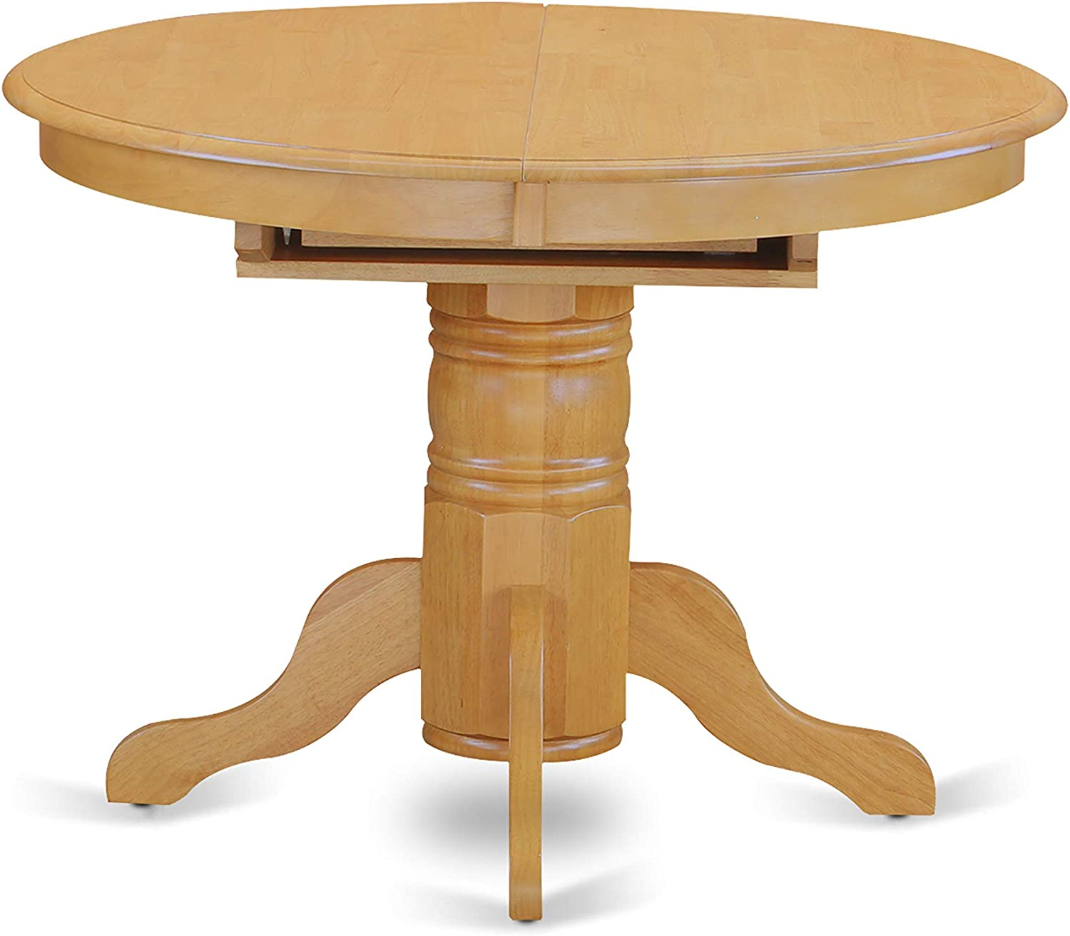 East West Furniture Kitchen table set 9 Wonderful dining room chairs   A  Wonderful round wooden dining table  Oak Color Wooden Seat Oak Butterfly  Leaf ...