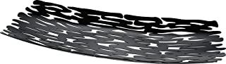 """Alessi Steel """"Bark"""" Centrepiece Coloured with Epoxy Resin, Black"""