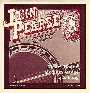 John Pearse Strings® 1800M For 5-String Banjo - Nickel Wound - X-Long - Medium Gauge