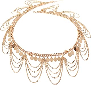 Ethnic Style Jewelry Retro Gold Punk Belly Dance Body Necklace Belly Chain