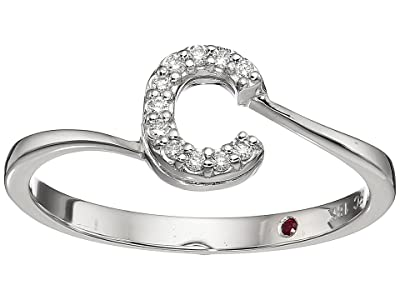 Roberto Coin Tiny Treasure Initial C Love Letter Ring (White Gold) Ring