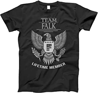 Team Falk Lifetime Member Family Surname T-Shirt for Families with The Falk Last Name