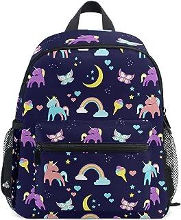 Kinder unicornio y del arco iris mini niños Mochila preescolar bolsa del niño Multicolor