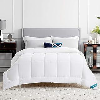BEDSURE Couette 240X220 cm - Couette Chaud 450g/m², Couette 2 Personnes Blanc avec Onglets d'angle, Couverture Constructio...