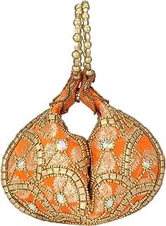 Bangle Potli Bag/Wristlet/Hand Bag with Brocade Beads