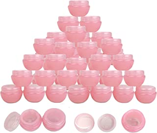 Beauticom Frosted Container Jars with Inner Liner and Lid for Scrubs, Oils, Salves, Creams, Lotions, Makeup Cosmetics, Nai...