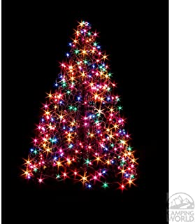 Crab Pot Christmas Trees 2' with 80 Multicolor LED Mini Lights