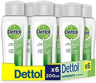 comprar comparacion Dettol Gel hidroalcoholico higienizante de manos - 200 ml x 6