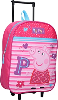 Peppa Pig Trolley Be Happy Wheeled Trolley Bag,