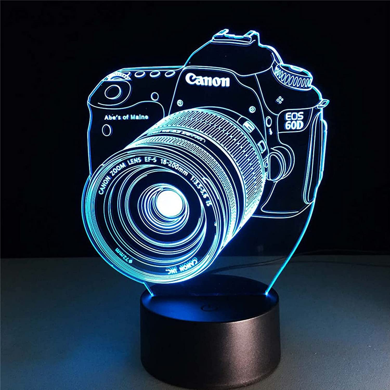 Creative Camera 3D Night lamp Colorful USB 1 year warranty Gradi