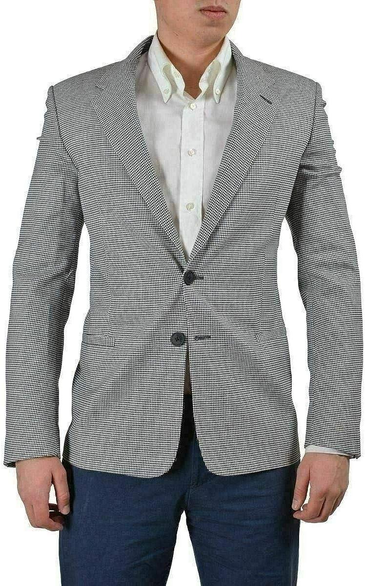 Versace Versus Men's Multi-Color Wool Two Button Sport Coat Blazer US 38 IT 48