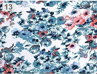 1m Petroleum Viscose Jersey, Dress Fabric, and Polyester, Fabrics