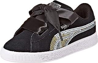 Puma Suede Heart Trailblazer Sqn Ps Black Shoes For Kids, Size 34 EU