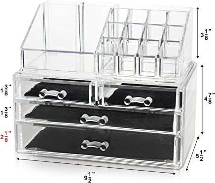 featured product Unique Home New Design Bottom Layer Increase Fits Most Conceal Acrylic Makeup Organizer and Cosmetic Make Up Organizer Countertop Storage Box Brush Holder Clear Jewelry Organizer Bathroom Vanity Tray