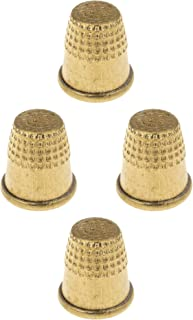 Hand Sewing Thimble Protector - Pack of 4 - Quilting Tailor Metal Thimble - Stainless Embroidery Safety Tool
