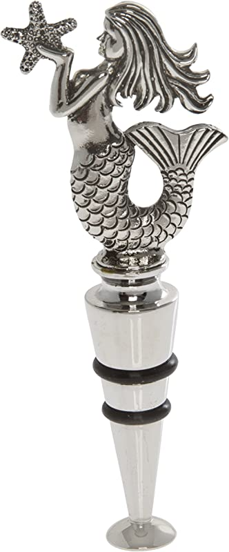 Thirstystone Mermaid Wine Stopper Silver