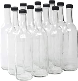 750ml screw top glass bottles