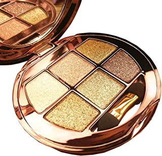 Glitter Eyeshadow Palette, Christmas Gifts for Women, Mom, Girlfriend, Daughter, 6 Colors Sparkle Eyeshadow Shimmer Eyeshadow Long Lasting Makeup Palette for Valentine's Day Wedding Evening Party