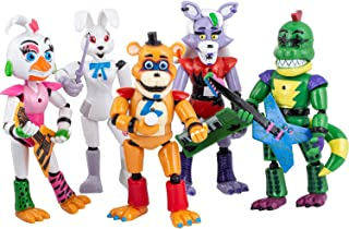 Featured by Five Nights at Freddys | Security Breach PizzaPlex | FNAF Action Figures Toy Set of 5 PCS | Toy Dolls for All Kids | Toys Gifts | 6 inches