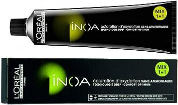 L´Oréal Inoa 5,62 Marrón Claro Rojo, Teñido Permanente, Sin Amoníaco, Sin Olor, 60 ml