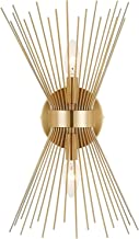 Modern Wall Sconce Lamp Gold, Starburst Wall Light Fixture, Mid Century Wall Sconce Lighting, 2-Light Vanity Wall Sconces ...