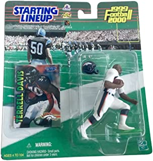 Starting Lineup Terrell Davis Figure with Trading Card 1999 NFL Football Denver Broncos