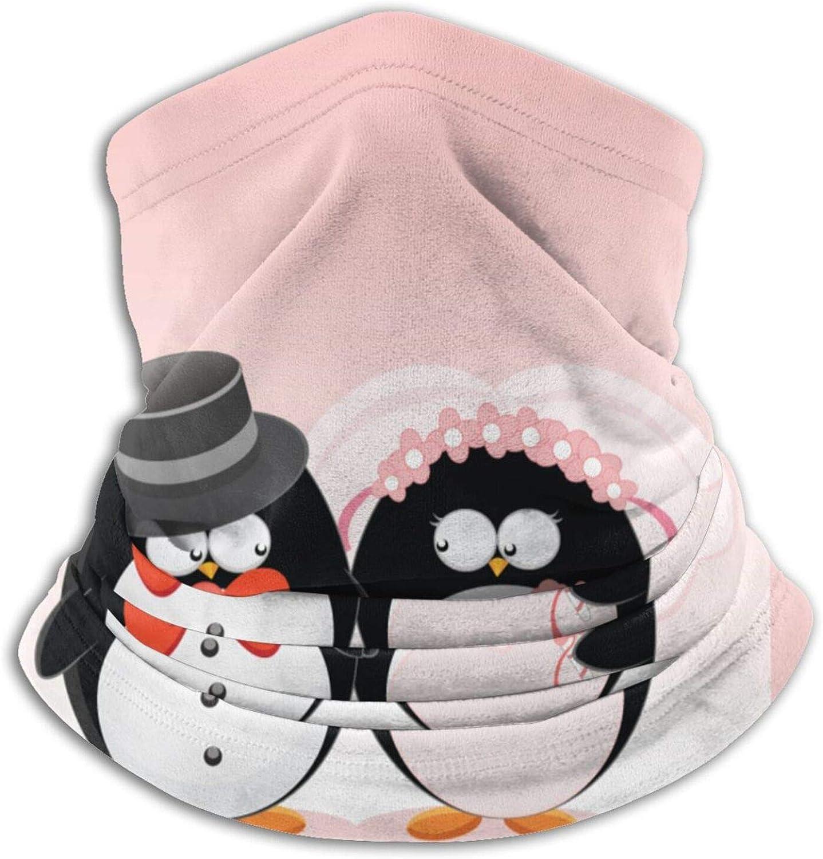 Winter Neck Gaiter Warmer Soft Face Mask Scarf Love Penguin Outdoor Sports Neck Warmer Headwear for Men Women Black
