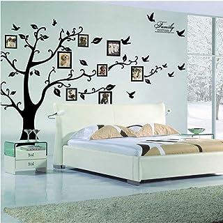 Rainbow Fox Large Family Tree Wall Decal. Peel & stick vinyl sheet, easy to install..