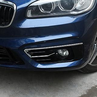 2 x für 2er Serie F45 F46 Gran Active Tourer 2015–2017 ABS Chrom Poliert Silber Nebelscheinwerfer Abdeckung Verkleidung