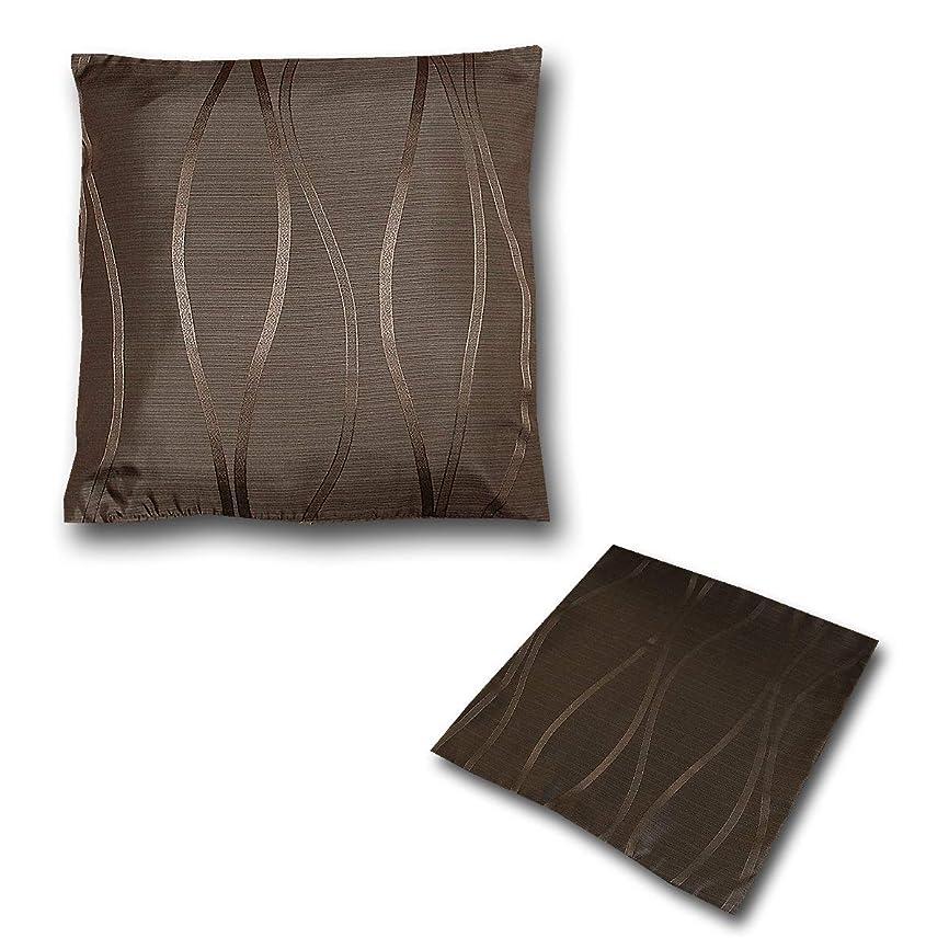 戻す添加バイアスカーテン生地で作ったクッションカバー フィオーレ 上品で高級感 しっかりとした生地 45×45cm ブラウン 1枚