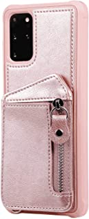 Positive Cover Compatible with Samsung Galaxy S20 Ultra, rose gold PU Leather Wallet Flip Case for Samsung Galaxy S20 Ultra