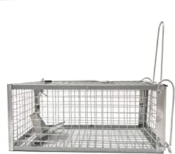 Negarly Humane Animal Live Cage Trap for Rat Mouse Squirrels Chipmunk and Other Rodents (Medium)