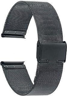Achket الصلب ووتش الفرقة العالمي watchband 16 ملليمتر 18 ملليمتر 20 ملليمتر 22 ملليمتر 24 ملليمتر شبكة الفولاذ المقاوم للص...