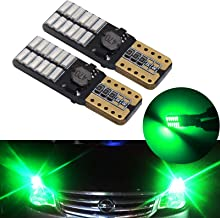 YaaGoo Bright Dome Lights LED bulbs Map License Trunk lamps,Canbus Error free,T10 168 194,green,5pcs,Compact mini-size