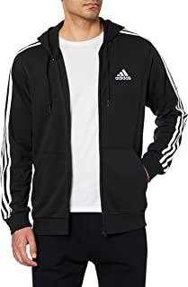 adidas Men's M 3S FT FZ HD HOODED TRACK TOP