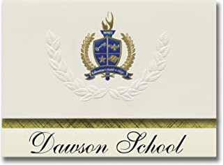 Signature Announcements Dawson School (Welch, TX) Graduation Announcements, Presidential style, Elite package of 25 with G...