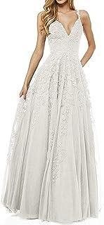R&Bwedding Abito da sera da donna, abito da damigella d'onore, abito da sera in tulle, con spalline