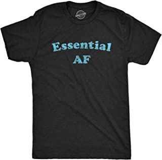 Mens Essential AF Tshirt Funny Social Distance Quarantine Graphic Tee