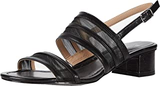 Bandolino Footwear Women's Block Heel Sandal Heeled, Black, 6.5