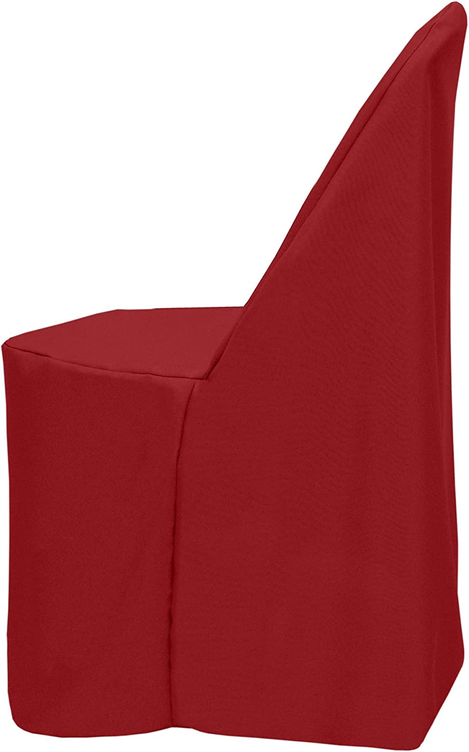 Ultimate Textile Polyester Folding Chair Cover - Fits Metal or Plastic Folding Chairs, Cherry Red